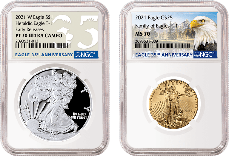Eagle 35th Anniversary Coins in NGC Holders