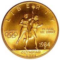 1984-W Olympics Coin
